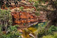 rugged landscape - Dales Gorge, Karijini National Park, The Pilbara, Western Australia, Australia Stock Photo - Premium Rights-Managednull, Code: 700-06809053