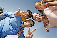 Portrait of family with two children from below Stock Photo - Premium Royalty-Freenull, Code: 649-06812439