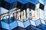 Office facade reflecting classical architecture