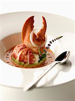 Lobster tail in sauce Stock Photo - Premium Rights-Managednull, Code: 825-06817723