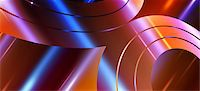 Concentric swirl shapes, close up Stock Photo - Premium Royalty-Freenull, Code: 653-06819537