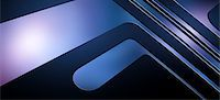 A chrome retro pop art right angle design element Stock Photo - Premium Royalty-Freenull, Code: 653-06819555