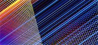 pattern (man made design) - An intricate arrangement of multi colored lines and dots Stock Photo - Premium Royalty-Freenull, Code: 653-06819557