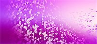 pattern (man made design) - A pattern of triangles on a violet background Stock Photo - Premium Royalty-Freenull, Code: 653-06819568