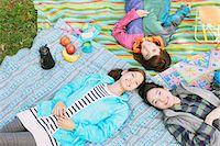 Girls camping Stock Photo - Premium Rights-Managednull, Code: 859-06824617