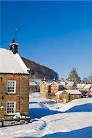 small town snow - United Kingdom, England, North Yorkshire, Hutton-Le-Hole. A picturesque and much visited village in the North York Moors National Park. Stock Photo - Premium Rights-Managednull, Code: 862-06825416