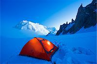 Europe, France, Haute Savoie, Rhone Alps, Chamonix Valley, camping beneath Mont Blanc (4810m) Stock Photo - Premium Rights-Managednull, Code: 862-06825448