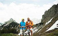 fitness   mature woman - Mature couple hiking in mountains, Tannheim Valley, Austria Stock Photo - Premium Royalty-Freenull, Code: 600-06826357