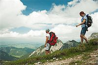 scenic view - Mature couple hiking in mountains, Tannheim Valley, Austria Stock Photo - Premium Royalty-Freenull, Code: 600-06826391