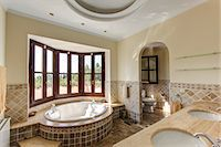 Luxury bathroom in villa Stock Photo - Premium Royalty-Freenull, Code: 649-06829429