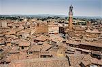 View of Piazza Del Campo, Siena, Italy