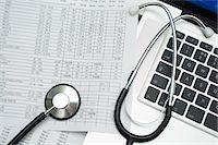 Medical records Stock Photo - Premium Royalty-Freenull, Code: 6106-06831239
