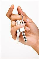 ring hand woman - Woman's hand holding keys Stock Photo - Premium Rights-Managednull, Code: 877-06832610