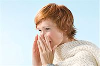 people coughing or sneezing - Young woman sneezing Stock Photo - Premium Rights-Managednull, Code: 877-06832806