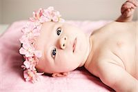 Portrait of a baby girl Stock Photo - Premium Rights-Managednull, Code: 877-06832992