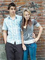 people kissing little boys - Teenagers listening to MP3 player Stock Photo - Premium Rights-Managednull, Code: 877-06833920