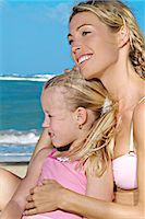 Young woman and little girl Stock Photo - Premium Rights-Managednull, Code: 877-06836559