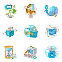 Set of various business related icons Stock Photo - Premium Royalty-Freenull, Code: 6111-06837085