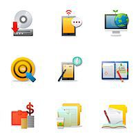 planner - Set of various business related icons Stock Photo - Premium Royalty-Freenull, Code: 6111-06837201