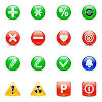Set of various button icons Stock Photo - Premium Royalty-Freenull, Code: 6111-06837251