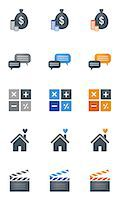 Set of various icons Stock Photo - Premium Royalty-Freenull, Code: 6111-06838703
