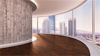 3d-illustration of a round room in urban city Stock Photo - Premium Rights-Managednull, Code: 700-06841594