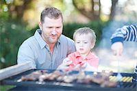 Father and sons barbecuing Stock Photo - Premium Royalty-Freenull, Code: 649-06844127