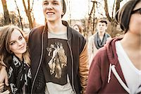 five - Five teenagers walking together Stock Photo - Premium Royalty-Freenull, Code: 649-06844588