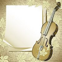 background with violin, this illustration may be useful as designer work Stock Photo - Royalty-Freenull, Code: 400-06850419
