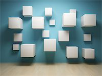 enki (artist) - Abstract cubes in interior Stock Photo - Royalty-Freenull, Code: 400-06854677