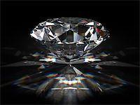enki (artist) - Brilliant diamond on black surface Stock Photo - Royalty-Freenull, Code: 400-06854684