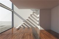 enki (artist) - Empty modern hall with big window Stock Photo - Royalty-Freenull, Code: 400-06854709