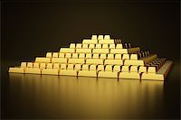 Pyramid of gold bars Stock Photo - Royalty-Free, Artist: Enki, Code: 400-06854725