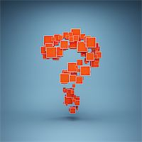 enki (artist) - Abstract question mark made of cubes Stock Photo - Royalty-Freenull, Code: 400-06854766