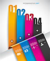Infographic design template with paper tags. Ideal to display information, ranking and statistics with orginal and modern style. Stock Photo - Royalty-Freenull, Code: 400-06855187