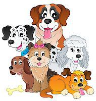 Image with dog topic 8 - eps10 vector illustration. Stock Photo - Royalty-Freenull, Code: 400-06856659