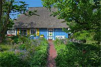 quaint house - Traditional house with thatched roof and garden in Zingst, Fischland-Darss-Zingst, Coast of the Baltic Sea, Mecklenburg-Western Pomerania, Germany, Europe Stock Photo - Premium Rights-Managednull, Code: 700-06892490