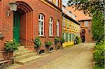Scene in historic old town of Stralsund, Mecklenburg-Vorpommern, Germany, Europe