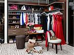 Women's closet / dressing room filled with clothing, handbags and shoes. Stock Photo - Premium Rights-Managed, Artist: Mark Burstyn, Code: 700-06895099