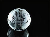 Glass Globe illustrating North America, Europe, Russia and Africa Stock Photo - Premium Royalty-Freenull, Code: 614-06895653