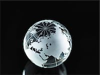 earth no people - Glass Globe illustrating Asia, India, China, Russia, Africa, Saudi Arabia, Middle East Stock Photo - Premium Royalty-Freenull, Code: 614-06895654