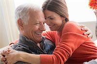 Mature woman and senior man hugging Stock Photo - Premium Royalty-Freenull, Code: 614-06896493