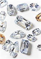 Cubic zirconium made to look like diamonds Stock Photo - Premium Royalty-Freenull, Code: 614-06897953
