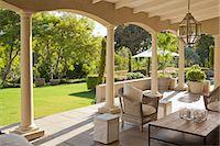 Luxury patio and garden Stock Photo - Premium Royalty-Freenull, Code: 6113-06898868