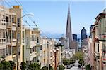 View of Transamerica Building and City Street from Nob Hill (Clay St.), San Francisco, California, USA Stock Photo - Premium Rights-Managed, Artist: Damir Frkovic, Code: 700-06899697