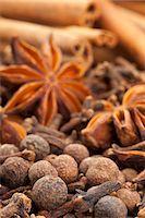 pimento - Winter spices (cloves, allspice, star anise, cinnamon) Stock Photo - Premium Royalty-Freenull, Code: 659-06901756