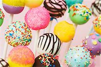 popping (bursting not corks or pimples) - Colourful cake pops with assorted decorations Stock Photo - Premium Royalty-Freenull, Code: 659-06902088