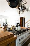 Interiors of a kitchen in a studio apartment Stock Photo - Premium Royalty-Free, Artist: Cultura RM, Code: 6108-06904385