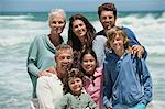 Portrait of a family smiling on the beach Stock Photo - Premium Royalty-Free, Artist: Cultura RM, Code: 6108-06905913