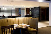 Dining booth in a restaurant Stock Photo - Premium Royalty-Freenull, Code: 6108-06906734